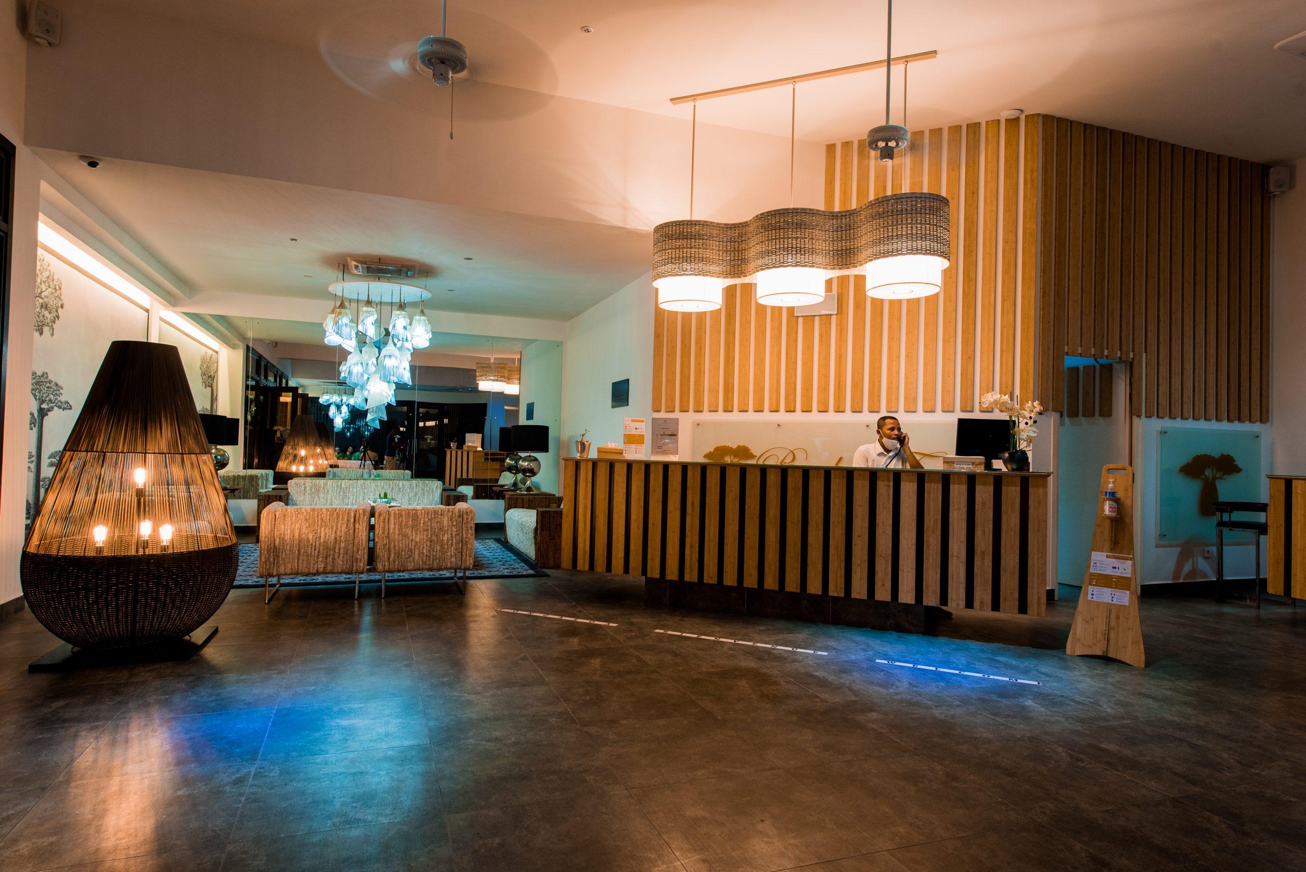 Hall entrée baobab tree hotel & spa