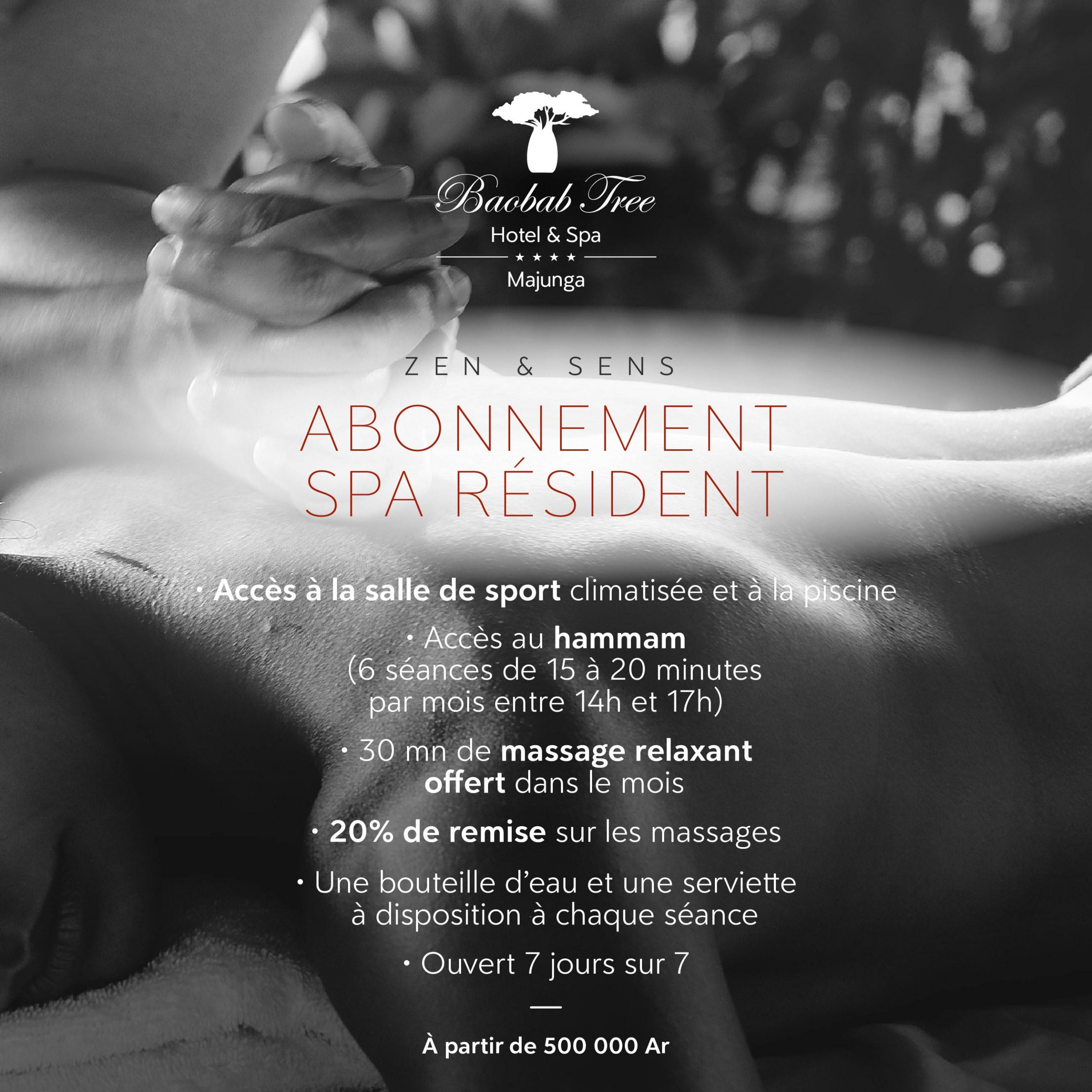 Offre abonnement resident baobab tree hotel & spa mahajanga
